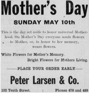 Manitoba - Mothers' Day, 1914